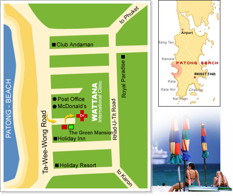 map The Green Mansion Patong Beach